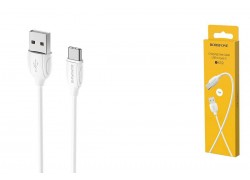 Кабель USB - USB Type-C BOROFONE BX19, 2A белый 1м