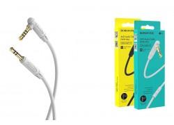 Кабель удлинитель BOROFONE BL5 AUX Audio cable 3.5 1 метр серый (с микрофоном)