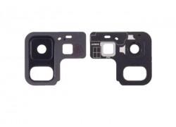 Стекло камеры для Samsung A530 Galaxy A8 (2018) + рамка (черный)
