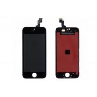 Дисплей для iPhone 5S в сборе с тачскрином и рамкой (черный)