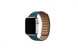 Кожаный ремешок с магнитной застежкой для Apple Watch 38/40 mm балтийский синий