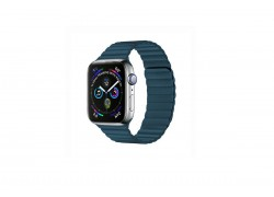 Кожаный ремешок с магнитной застежкой для Apple Watch 42/44 mm синий