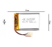 АКБ для GPS, MP3  35\25\4 мм (3.7V) 500 mAh
