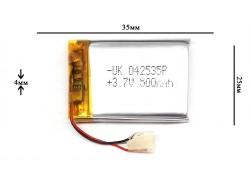 Аккумулятор для GPS, MP3  35\25\4 мм (3.7V) 500 mAh