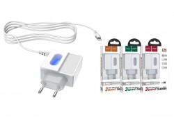 Сетевое зарядное устройство 2 USB 2400mAh + кабель iPhone 5/6/7 HOCO C75 Imperious dual port белый
