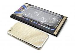 Пластиковая накладка iPhone 6/6S HOCO Plaid Pattern Plating белая (в фирменной упаковке)