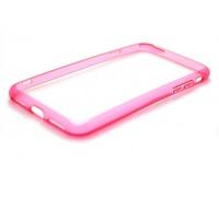 Чехол для iPhone 7 пластиковый с силиконовым бампером NEW розовый