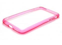 Пластиковая накладка iPhone 7  (4.7)   с силиконовым бампером NEW розовая