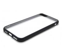 Чехол для iPhone 7 пластиковый с силиконовым бампером NEW черный