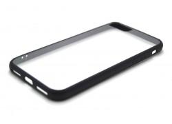 Пластиковая накладка iPhone 7  (4.7)   с силиконовым бампером NEW черная
