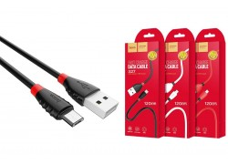 Кабель USB micro USB HOCO X27 Excellent charge charging data cable (черный) 1 метр