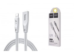 Кабель для iPhone HOCO U9 Zinc Alloy Jelly Knitted Lightning Charging Cable (L=1.2) серебристый
