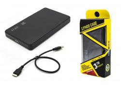 """Кейс бокс для жесткого диска 2.5"""" HDD001 пластиковый (черный)"""