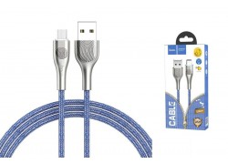 Кабель USB micro USB HOCO U59 Enlightenment charging data cable for Micro (синий) 1 метр