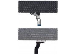 Клавиатура для ноутбука HP Pavilion 15-ab черная с белой подсветкой