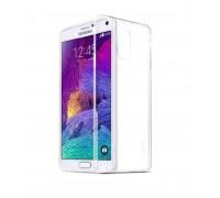 Силиконовая накладка Samsung Note 4 ультратонкая 0,3мм (прозрачная)
