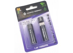 Аккумуляторы Huahui Energy R03 R6 1500mAh BL2 2/AA 2шт с разъемом USB