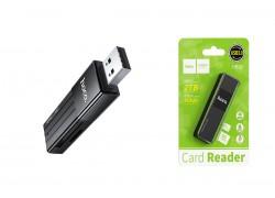 Картридер Card-Reader  HOCO HB20  SD/microSD USB 3.0 черный