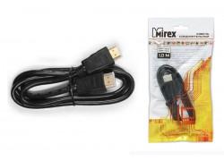 Кабель соединительный Mirex HDMI(M)-HDMI(M) 1 метр (версия 1.4) (13700-HDMI0010)