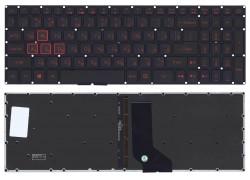 Клавиатура для ноутбука Acer Nitro 5 AN515 черная с красной подсветкой
