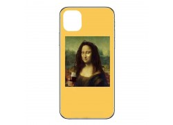 "Силиконовая накладка iPhone 11 Pro Max (6.5) с рисунком ""Мона Лиза"""