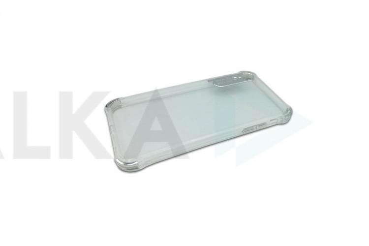 Силиконовая накладка iPhone XR прозрачная серебристая AUTO FOCUS
