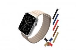 Кожаный магнитный браслет для Apple Watch 38-40 мм цвет в ассортименте