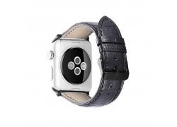 Кожаный ремешок для Apple Watch 42-44 мм цвет черный