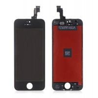 Дисплей для iPhone 5S/ SE в сборе с тачскрином и рамкой (черный) HQ