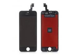 Дисплей для iPhone 5S в сборе с тачскрином и рамкой (черный) HQ