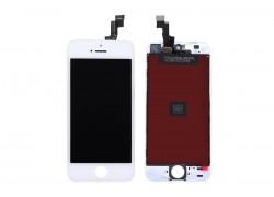 Дисплей для iPhone 5S в сборе с тачскрином и рамкой (белый) HQ