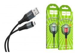 Кабель USB micro USB HOCO X38 Cool Charging data cable for Micro 1 метр черный