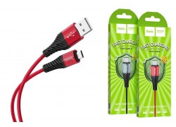 Кабель USB micro USB HOCO X38 Cool Charging data cable for Micro 1 метр красный
