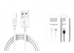 Кабель для iPhone HOCO X23 Skilled lightning charging data cable 1м белый