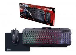 Комплект игровой Smartbuy RUSH Shotgun клавиатура+мышь+коврик черный (SBC-307728G-K)