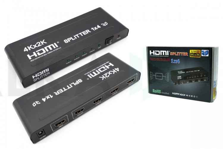Разветвитель HDMI 1x4 UltraHD (4K)