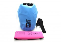 Водонепроницаемый гермомешок 5 литров с наплечным ремнем (цвет в ассортименте)