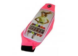 Поясной неопреновый чехол на молнии S3/S4/S5/iPhone 6 (размер 4.7-5.2) розовый