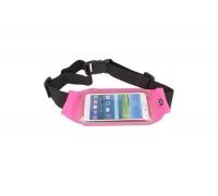 Чехол для Note 5/iPhone 7 Plus (размер 5.5-6.0)  поясной неопреновый розовый
