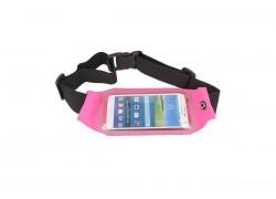 Поясной неопреновый чехол на молнии Note 5/iPhone 7 Plus (размер 5.5-6.0) розовый