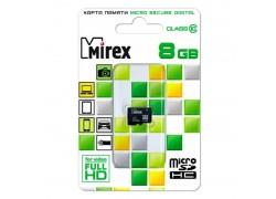Карта памяти microSDHC MIREX 8 GB (class 10) без адаптера