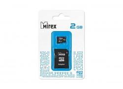 Карта памяти microSD с адаптером MIREX  2GB (class 4)