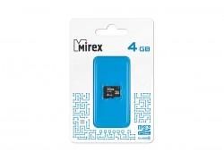 Карта памяти microSDHC MIREX 4 GB (class 4) без адаптера