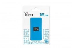 Карта памяти microSDHC MIREX 16 GB (class 4) без адаптера