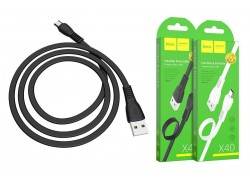 Кабель USB micro USB HOCO X40 Noah charging data cable  1 метр черный