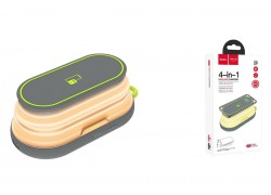 Универсальный дополнительный аккумулятор HOCO S9 mobile power bank 5000 mAh серый 4 в 1