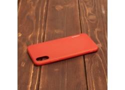 Резиновая накладка iPhone X  Motomo красный