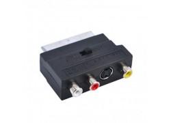 Орбита OT-AVW42 видео переходник (SCART-3RCA+S-VHS, с переключателем)(УПАКОВКА 10ШТ)