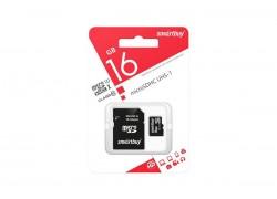 Карта памяти microSDHC Smartbuy 16 GB (class 10) с адаптером