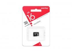 Карта памяти microSDHC Smartbuy 16 GB UHS-I (class 10) без адаптеров